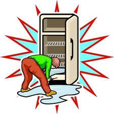 Холодильник потек